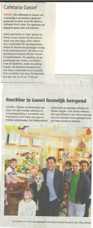 Persbericht opening cafetaria